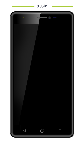 m3 smartphone dimensions front view